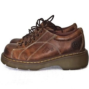 Dr Marten leather vintage chunky oxford 12283